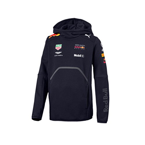 1fcc3e7030b49 Aston Martin Red Bull Racing F1 Puma Kids Hoodie Blue Official 2018
