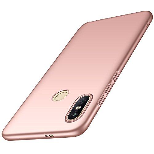 Funda Xiaomi Mi Mix 2s, LAGUI Carcasa Dura de Ultrafino, Caja del Teléfono de Ligera y Simple de Un Único Color, Anti-Arañazos Anti-huella Cubierta Protectora, oro rosa