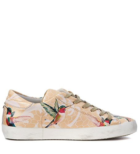 Sneakers Philippe Model Philippe Birds Tropical Bunt Pfirsich Model Leder wtrd7r
