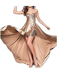 Fepelasi Vestido de Dama de Honor sin Espalda sin Mangas Maxi Cola de Pescado por la Noche Prom Vestidos de Invitados de Boda de Las…