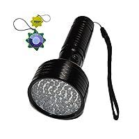 HQRP 68 LEDs 395nm Ultraviolet Blacklight Flashlight for Hotel Room Inspection/Urine Detection/Human bodily fluid tracing + HQRP UV Meter