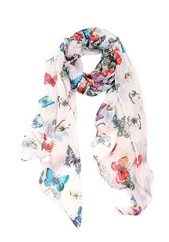 , Poncho, Stola mit Schmetterling Print-Design und Blumen-Vogel-Stil … (Halloween-kostüm-ideen Für Große Frauen)