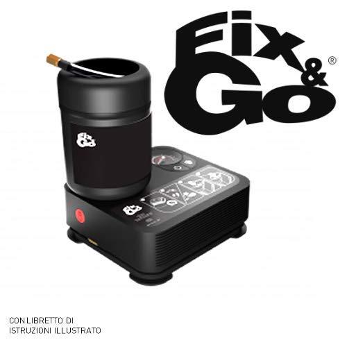 Fix&Go Automatic Tek Airflat Kit compressore Ripara gomme gonfiaggio 450ml, gonfia e ripara semplice e velo