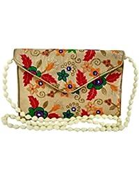 Women's Embordierd Multi Coloured Shoulder Bag/Traditional Bag/Jhola/Jaipuri Rajsthani BagWomen Rajasthani Gujarati... - B079H2SFYC