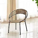 WOAINI Set di 3 sedie da Pranzo in Vimini all'aperto Set di Set di Conversazione in Vimini con tavolino da caffè / 20.1x22.4 Pollici, 20x21.6 Pollici (Colore : A)