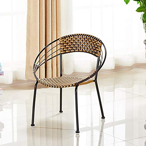 MMWYC Patio Furniture Set 3 Stück Outdoor Wicker Bistro Set Rattan Stuhl Gesprächs-Sets mit Couchtisch / 20.1x22.4 Zoll, 20x21.6 Zoll (Color : A, Size : S(55x50cm)) -