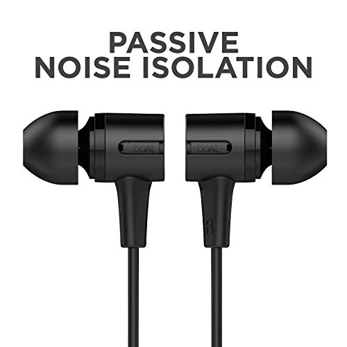 boAt BassHeads 102 Wired Earphones with Immersive Audio, Multi-Function Button, in-line Microphone & Perfect Length Tangle Free Cable (Charcoal Black) Image 6