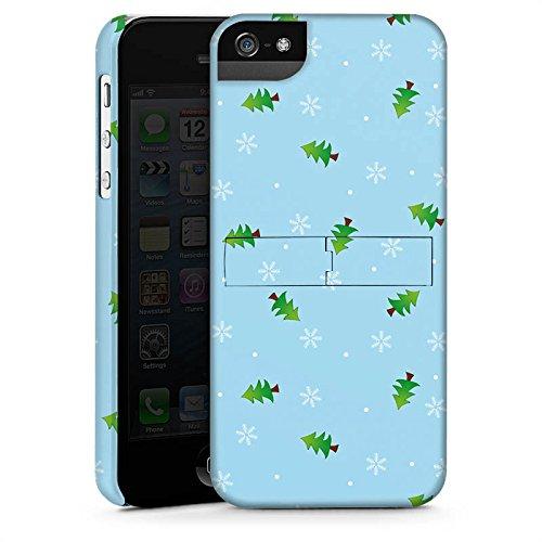 Apple iPhone X Silikon Hülle Case Schutzhülle Tannenbaum Winter Weihnachten Premium Case StandUp