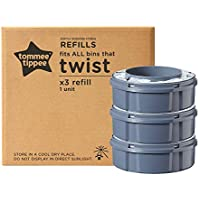 Tommee Tippee Twist and Click Advanced Nappy Disposal Sangenic Refills, Pack of 3