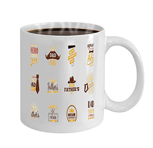 Funny Gifts for Halloween Party Gift Coffee Mug Tea happy fathers day set typography vintage lettering