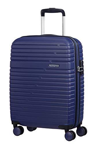 American Tourister Aero Racer Spinner 55-2.5 Kg Bagaglio a Mano 37 Liters, Blu (Nocturne Blue)