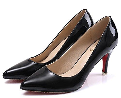 SEXYHER Peinture 3.1 mariage High Heel Bureau Party Femmes Chaussures-SHOHE 003 ¨¤ 3,1 Noir