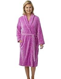 2b88e452c1 Indigo Sky Embossed Swirl Patterned Flannel Fleece Dressing Gown