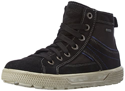 Superfit Swagy 500458, Jungen Hohe Sneakers, Schwarz (Schwarz Kombi 02), 37 EU
