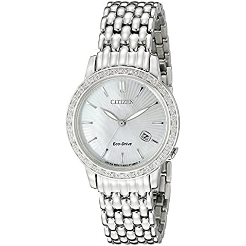 Citizen Eco-Drive donna EW 2280-58D Diamond Watch - 58 Pearl