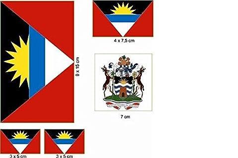 U24 Aufkleberbogen Antigua & Barbuda Aufkleber Set Flagge Fahne