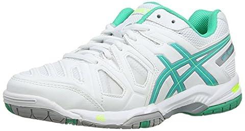 Asics Gel-Game 5, Chaussures de Tennis Femme - Blanc (White/Mint/Flash Yellow 167) - 39.5 EU