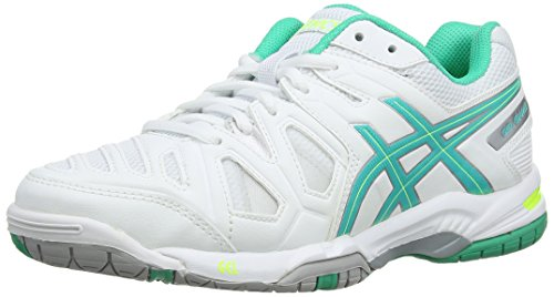 ASICS Gel-Game 5, Damen Tennisschuhe, Weiß (White/Mint/Flash Yellow 167), 37.5 EU