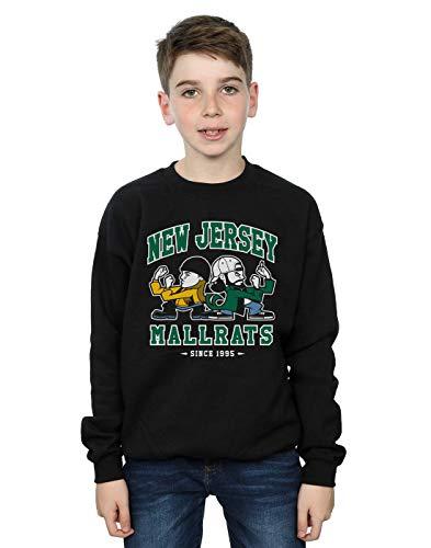 Absolute Cult Nemons Jungen New Jersey Mallrats Sweatshirt Schwarz 7-8 Years - New Jersey-kinder Sweatshirt
