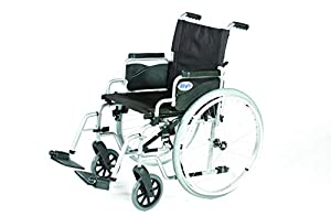 Days Whirl Self Propelled Wheelchairs, Folding Mobility Device for Tight Indoor Transporation and Easy Storage, Compact Wheelchair for Elderly, Handicapped, and Disabled Users