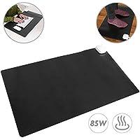 PrimeMatik - Tapis et Surface chauffante Moquette Thermique pour Bureau Sol et Pieds 60 x 36 cm 85W Noir