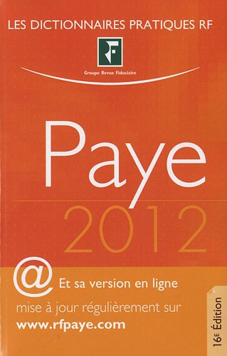 Dictionnaire Paye 2012
