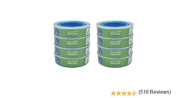 Recharges pour Poubelle /à Couches Angelcare Film Antibact/érien Multicouche avec Traitement EVOH Anti-odeurs 6 recharges LILNAP