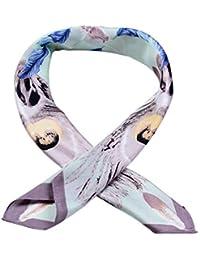 cafa07fc7ca TOPSTORE01 Femme Foulard Cravate Écharpe Carrée Ruban Décoration Accessoire  Sac à Main Bandeau à Cheveux Cravate