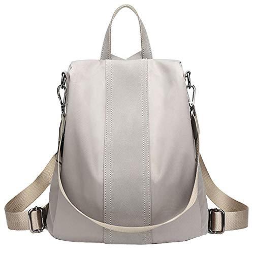 WAWJ Store Damen Rucksack PU Umhängetasche Handtaschen Daypack, 2019 Anti-Diebstahl Schwarz Schultertasche Reiserucksack Schulrucksack (Grau)