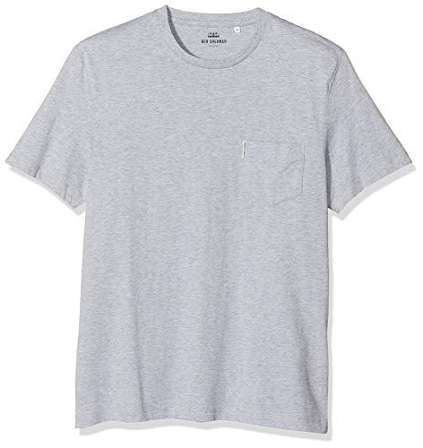 Ben Sherman Herren The Plain Pocket Crew Tee T-Shirt, Grau (Grey 250), X-Large (Baumwolle Pocket 100 Tee)