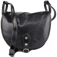 Bolso de mujer de piel bandolera de cuero bolso de espalda de cuero bolso de piel made in Italy negro