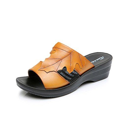 ZPPZZP Ms sandali pantofole estate relax a fondo piatto con 35EU