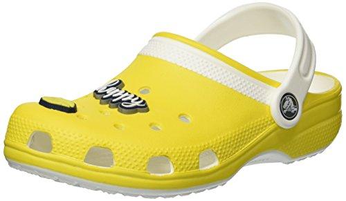 Crocs crocs205198-7b0 - zoccoli classici drew x bambini bimbo 0-24 unisex - kids, giallo (lemon/white), 26 eu
