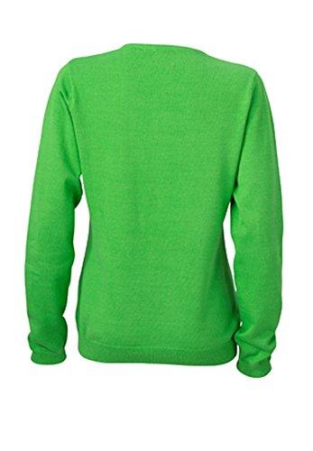 James & Nicholson - Cardigan mit V-Ausschnitt Green