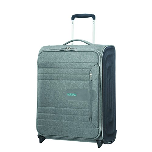 American Tourister Sonicsurfer - Upright 55/20 Equipaje de mano, 55 cm, 43 liters, Gris (Metal Grey)