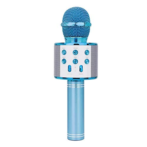 EisEyen Karaoke Mikrofon Drahtloses Mikrofon Bluetooth Lautsprecher für die Aufnahme von Sprach und Gesang,Kompatibel mit Android/IOS, PC oder Alle Smartphone