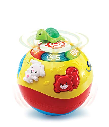 VTech Crawl & Learn Baby Activity Ball, Baby Play Centre, Educational Baby Musical Toy, Sound Toy with Lights, Numbers & Music for Babies & Toddlers From 6 Months+, Boys & Girls