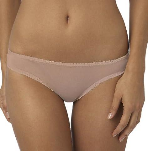 OnGossamer Women's Mesh Low-Rise Hip G-Thong Panty,Champagne,L/XL