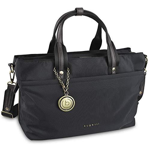 Bugatti Contratempo Aktentasche Damen Handtasche aus Nylon mit 15