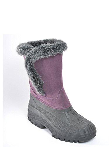 Kissen zu Fuß Damen Stiefel Violett