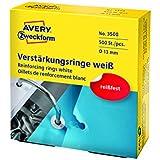 Avery Zweckform 3508 Verstärkungsringe (Ø 13 mm) 500 Stück weiß