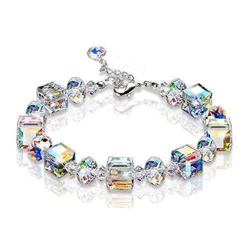 Glänzend Kristall Perlen Armband Einstellbar Für Frauen Mädchen ()