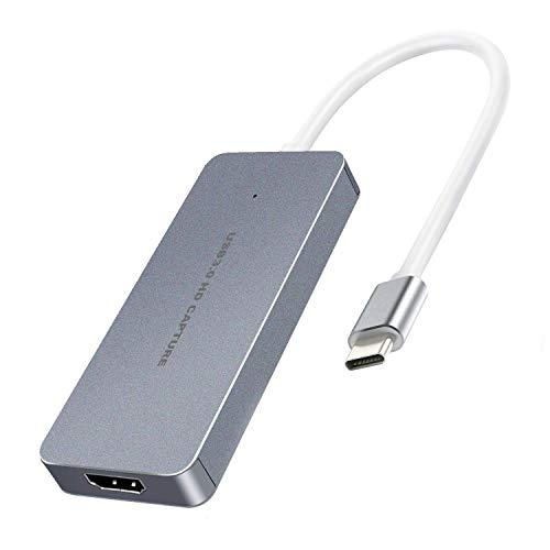 Y&H Typ-C HDMI-Video-Aufnahmekarte HD 60 fps 1080P Spielrekorder Gerät unterstützt Live Stream für Nintendo Switch PS4 Xbox Camcorder und DSLR ezcap265C