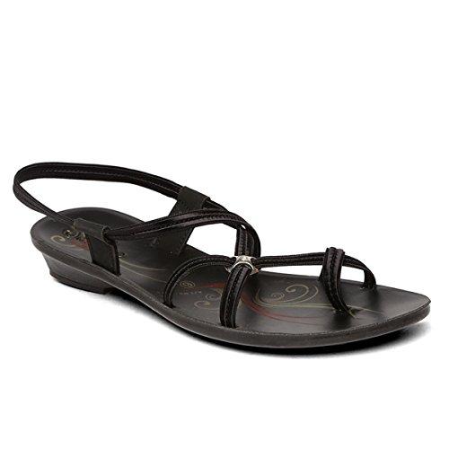 PARAGON Women's Black Fashion Sandals-8 UK/India (42 EU)(PU7970L)