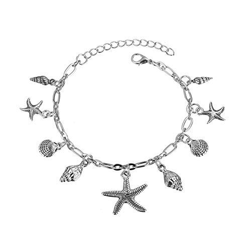 OUTANG fußkette fußkette Silber Barfuß Fußkettchen Fußkette der Sterne Sandale Fußkette Infinity-Armband Legierung fußkettchen große Länge Fußkette