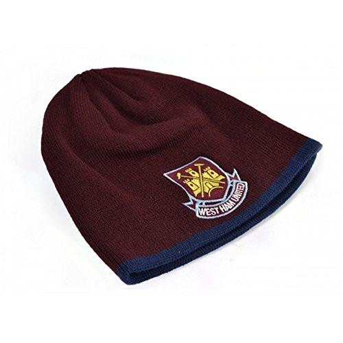 4ee08d37622 West Ham FC Official Childrens Kids Football Classic Crest Knitted Beanie  Hat (One Size) (Claret Blue)