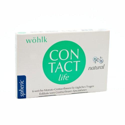 Wöhlk Contact Life natural Monatslinsen weich, 6 Stück/BC 8.9 mm/DIA 14.2 mm / -11 Dioptrien