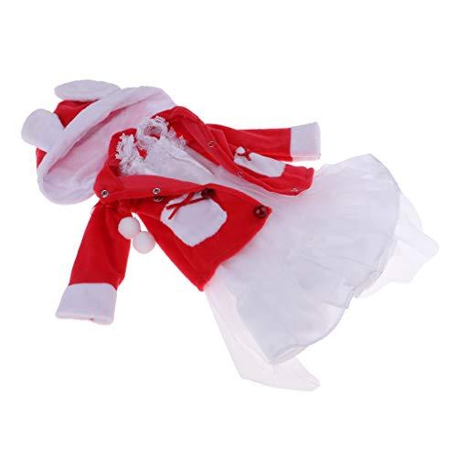 Up Doll Kostüm Dress - FLAMEER Schöne Mädchenpuppe Herbst Kostüm Winter Outfit Satz Für 1/3 BJD Puppen Dress Up - D