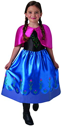 Fancy Ole - Mädchen Girl Kinder Anna Frozen Classic Kostüm mit Prinzessinnenkleid und Cape, perfekt für Karneval, Fasching und Fastnacht, 98-104, ()