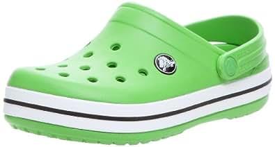 crocs Crocband Kids Unisex-Kinder Clogs & Pantoletten, Grün (Lime), 19/21 EU